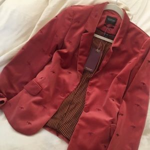 scotch and soda red velvet blazer new with tags